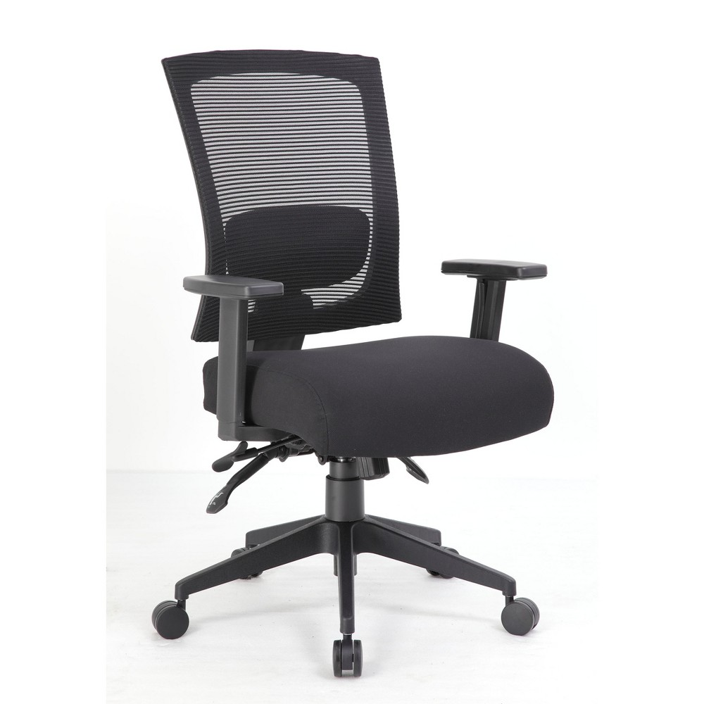 Multi - Function Mesh Back Chair - Black - Boss