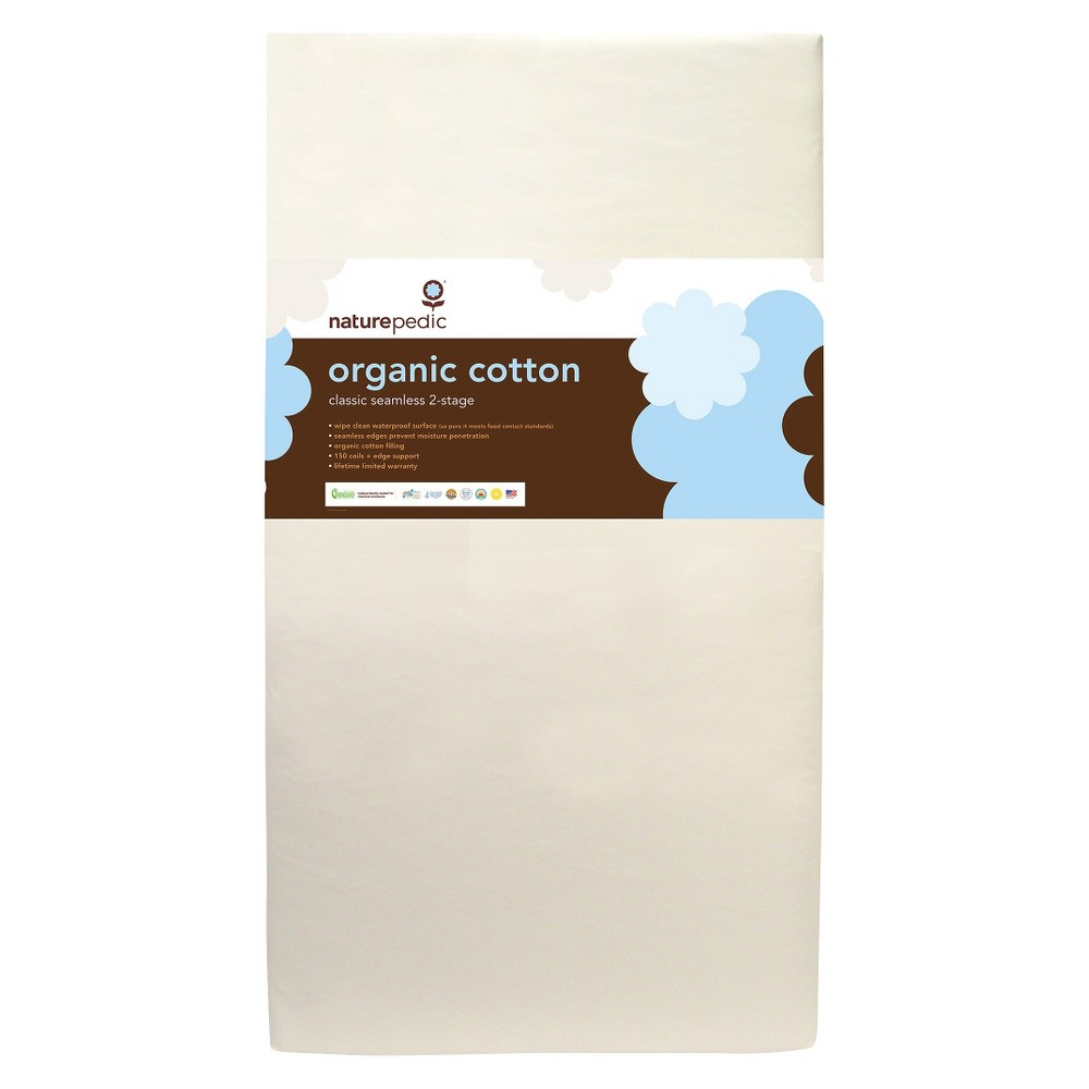 Image of Naturepedic Certified Organic Cotton Classic 150 Baby Crib & Toddler Mattress
