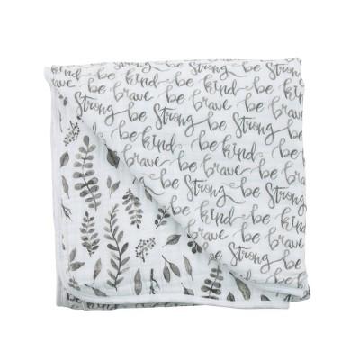 Bebe au Lait Muslin Snuggle Blanket Just be - Leaves