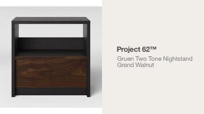 Gruen Two-Tone Nightstand Grand Walnut - Project 62™ : Target