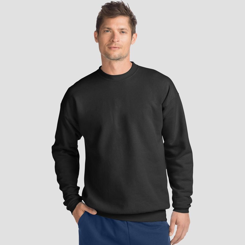 Hanes Men's EcoSmart Fleece Crew Neck Sweatshirt - Black S