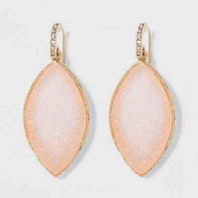 Sugarfix By Bauble Bar Gold Frame Druzy Drop Earrings by Sugarfix By Bauble Bar