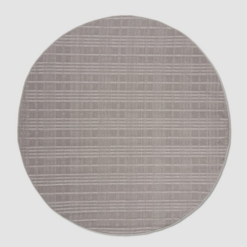 Zella 6 7 Round Outdoor Rug Gray