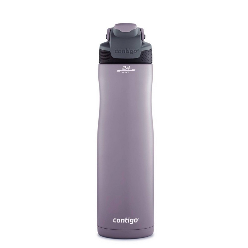 Image of Contigo 24oz Stainless Steel Leak-Proof and Spill-Proof AUTOSEAL Chill Water Bottle Dark Plum, Purple