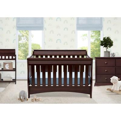 Chocolate Chocolate and Children Bentley Six Drawer Dresser Delta Children Bentley S Series 4-in-1 Crib