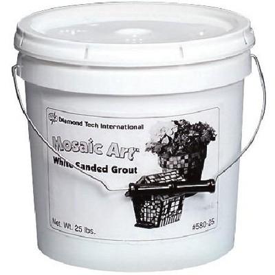 Jennifer's Mosaics Dry Set Grout, 25 lb Bucket, White
