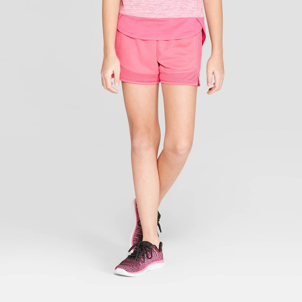 500652878bb5 Girls Mesh Shorts C9 Champion Pink S