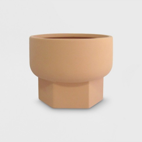 Hexagon Stoneware Planter Terracotta - Project 62™ - image 1 of 1