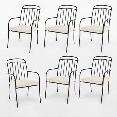 Strange Farmhouse 6Pk Patio Dining Chair Linen Threshold Brickseek Uwap Interior Chair Design Uwaporg