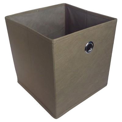 11  Fabric Cube Storage Bin Brown - Room Essentials™