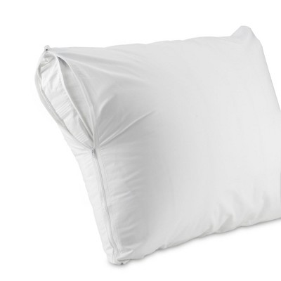 AllerEase Waterproof Pillow Protector - White (King)