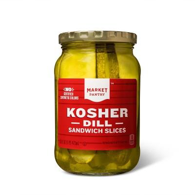 Kosher Dill Sandwich Slices - 16oz - Market Pantry™