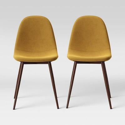 2pc Copley Upholstered Dining Chair Mustard - Project 62™