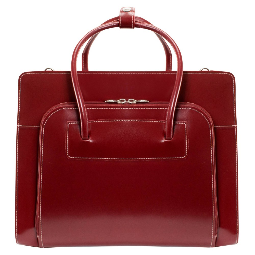 """Image of """"McKlein Lake Forest 15"""""""" Leather Ladies' Laptop Briefcase (Red), Women's, Size: Small"""""""