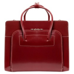 "McKlein Lake Forest 15"" Leather Ladies' Laptop Briefcase (Red)"