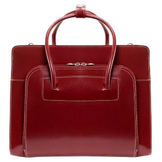 "McKlein Lake Forest 15"" Leather Ladies' Laptop Briefcase (Red)"