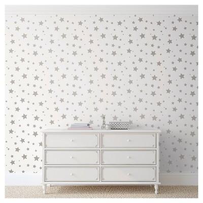 Devine Color Stars Peel & Stick Wallpaper - Sterling