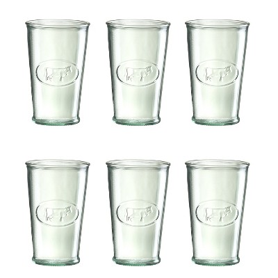 Set of 6 Glasses Amici Home Frutta Recycled Glass Drinkware