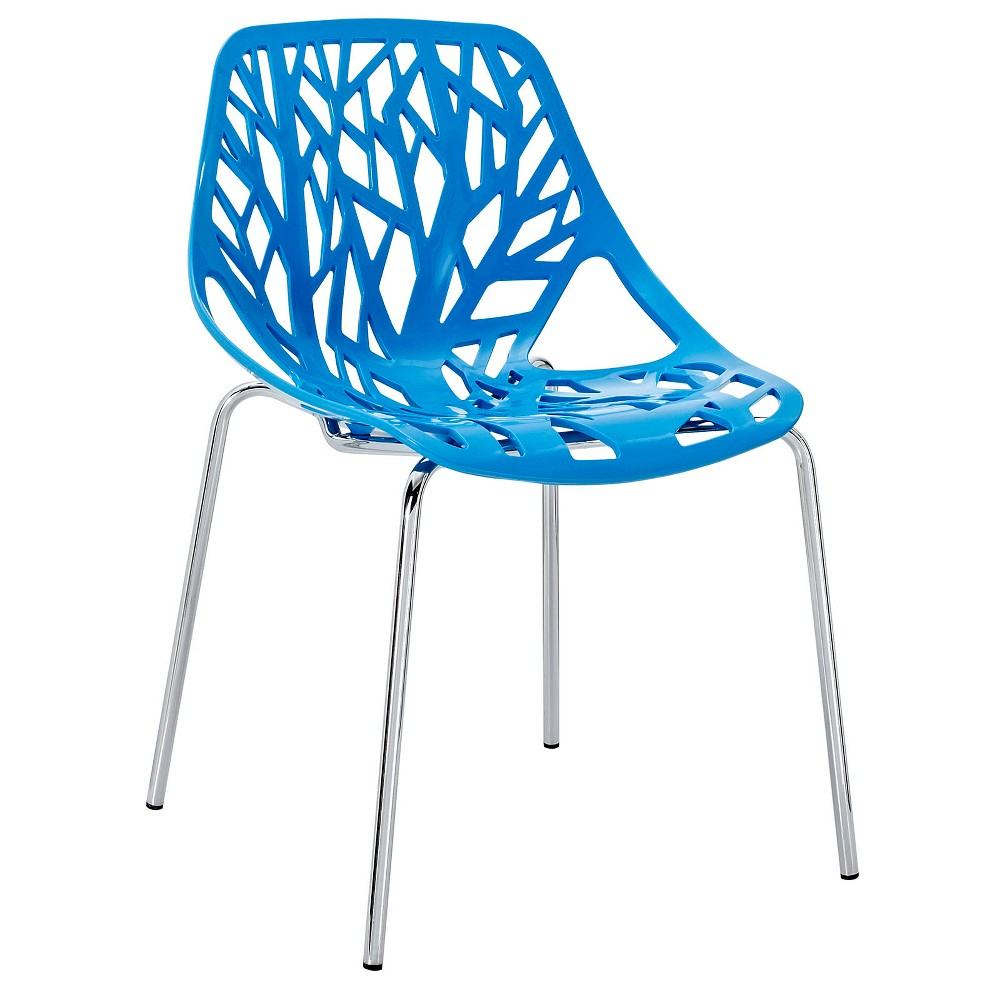 Stencil Dining Side Chair Blue - Modway