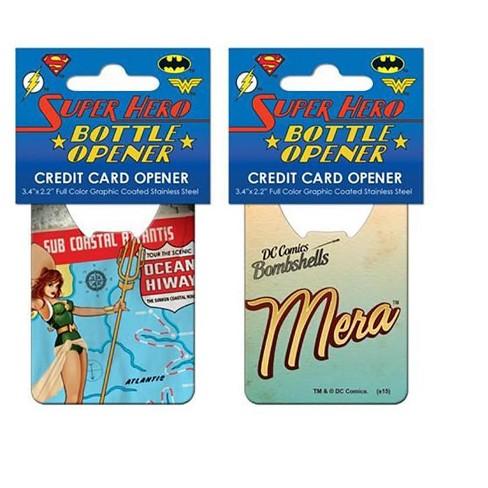 Adventure Trading Inc DC Comics Bombshells Mera Cover Credit Card Bottle Opener - image 1 of 1