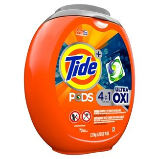 Tide Pods Laundry Detergent Pacs Ultra Oxi - 73ct