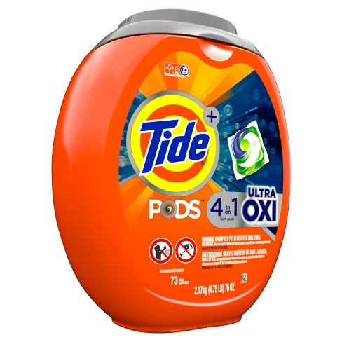 Tide Pods Laundry Detergent Pacs Ultra Oxi - 73ct - image 1 of 3