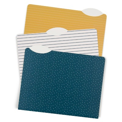 U Brands 12ct File Folders Letter Size - Casual Chic