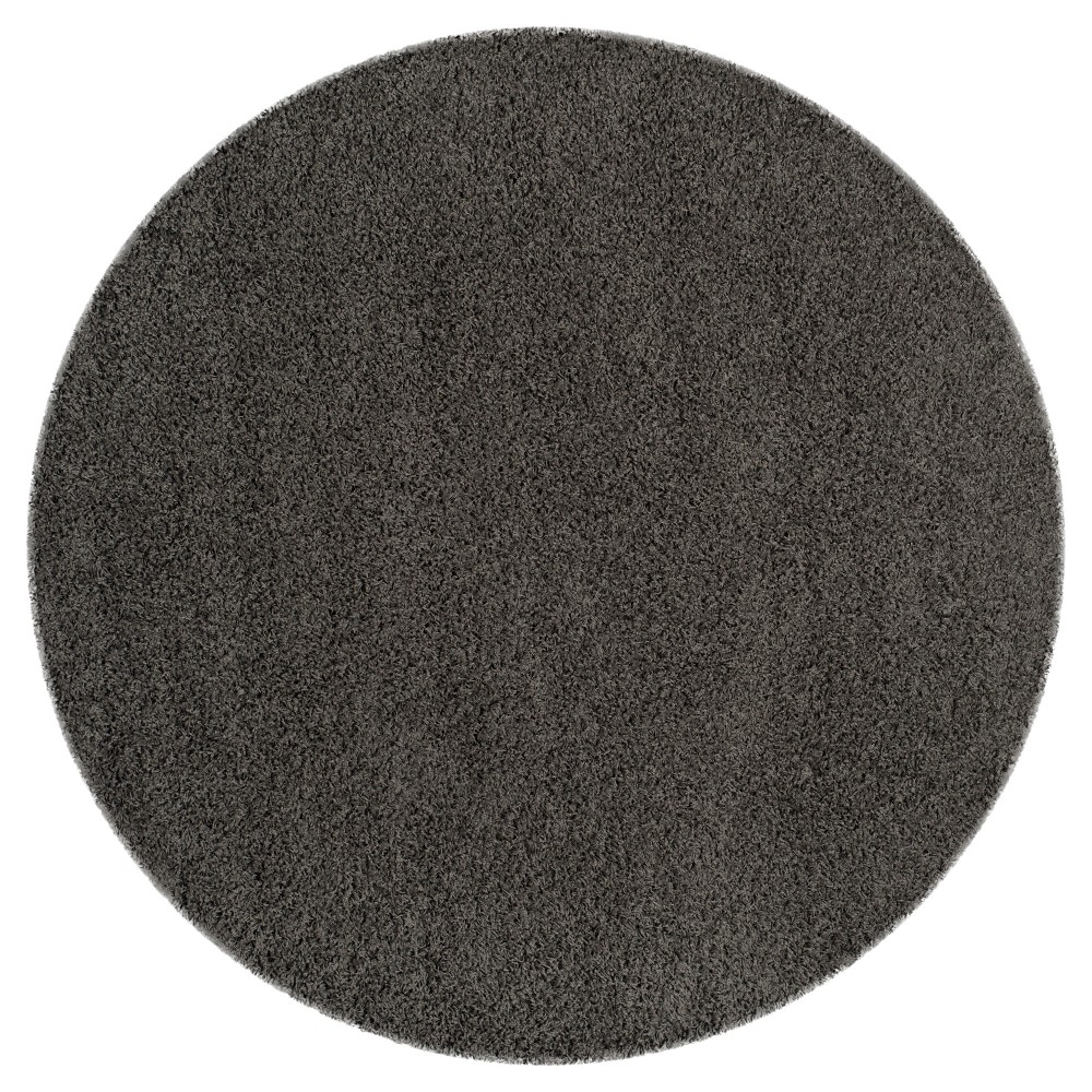 Dark Gray Solid Loomed Round Area Rug - (6'7 Round) - Safavieh