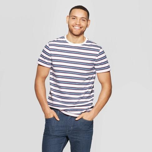 Men's Striped Standard Fit Novelty Graphic T-Shirt - Goodfellow & Co™ Red Velvet - image 1 of 3