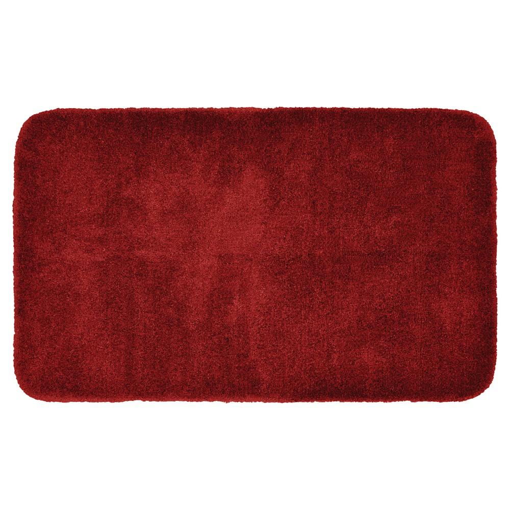 Garland Finest Luxury Ultra Plush Washable Nylon Bath Rug - Chili Pepper Red (30