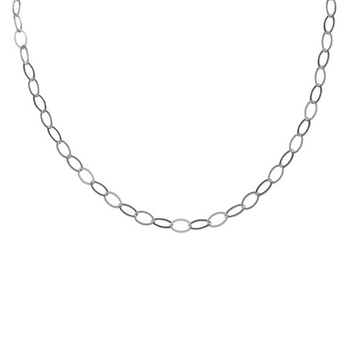 "Women's Oval Link Rolo Necklace in Sterling Silver (20"") - image 1 of 1"