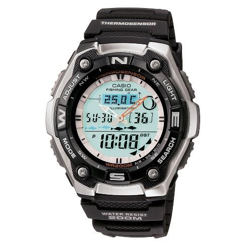 Men's Casio Active Dial Multi-Task Gear Sport Watch - Black (AQW101-1ACF) - image 1 of 1