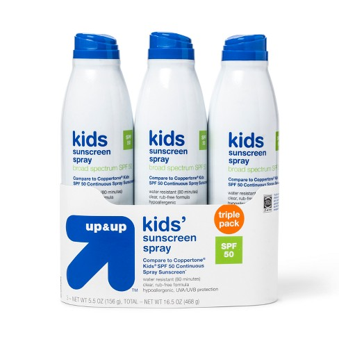 Sunscreen Apply To Wet Or Dry Skin - SPF 50 - 16.5 fl oz - Up&Up™ (Compare to Coppertone Kids SPF 50 Continuous Spray Sunscreen) - image 1 of 1
