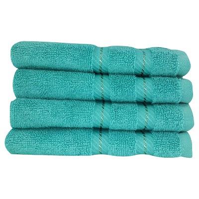 4pc Antalya Turkish Washcloth Towels Set Aqua - Makroteks