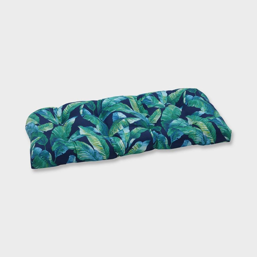 Hanalai Lagoon Wicker Outdoor Loveseat Cushion Blue - Pillow Perfect