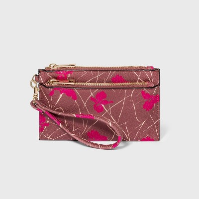 Double Zip Wristlet Pouch - A New Day™