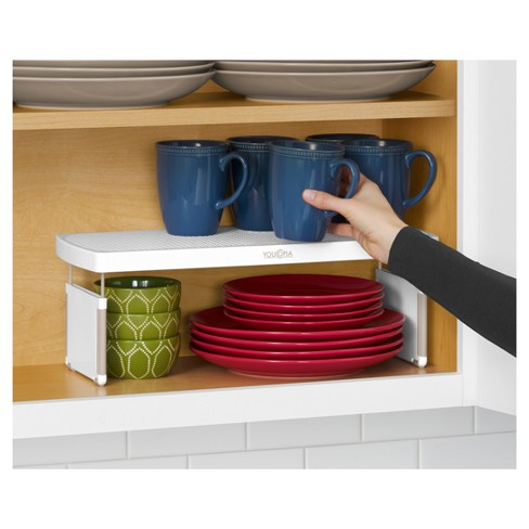 Kitchen Cabinet Organizer Adjule Shelf Riser 17 3 White Youcopia Target