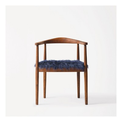 Walnut with Faux Fur Accent Chair - Project 62™