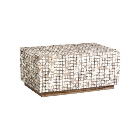 Dellwood Coconut Shell Coffee Table Tumbled Granite - East At Main - image 1 of 4