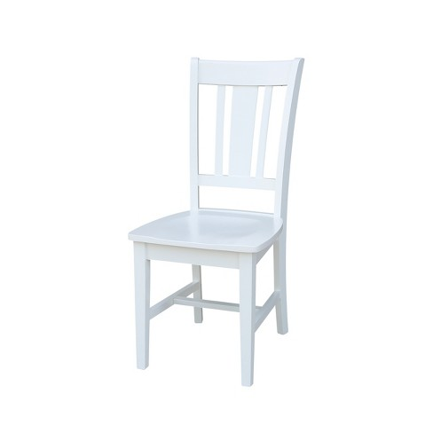 Set of 2 San Remo Splat Back Dining Chair White - International Concepts - image 1 of 4