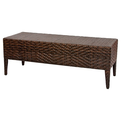 Wicker patio bench brown christopher knight home target wicker patio bench brown christopher knight home watchthetrailerfo
