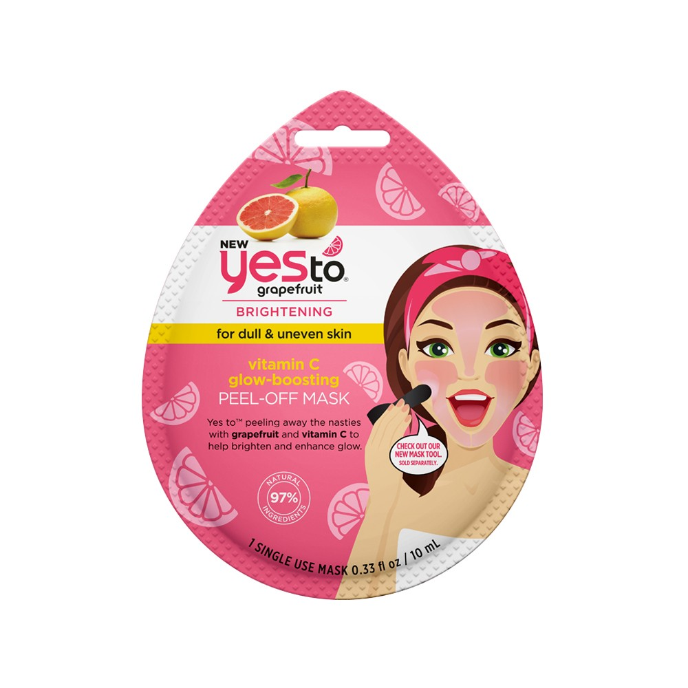 Yes To Grapefruit Vitamin C Glow Boosting Peel Off Mask Single Use Facial Treatment