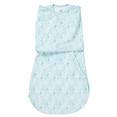 SwaddleMe® Love Sack Swaddle Wrap - Teal Triangles (S/M, 0-4mo)