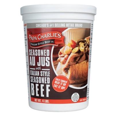 Papa Charlie's Frozen Italian Beef - 64oz