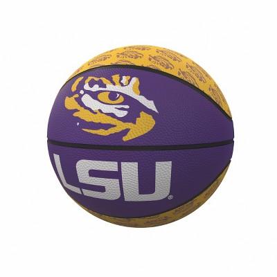 NCAA LSU Tigers Logo Brands Mini-Size Rubber Basketball