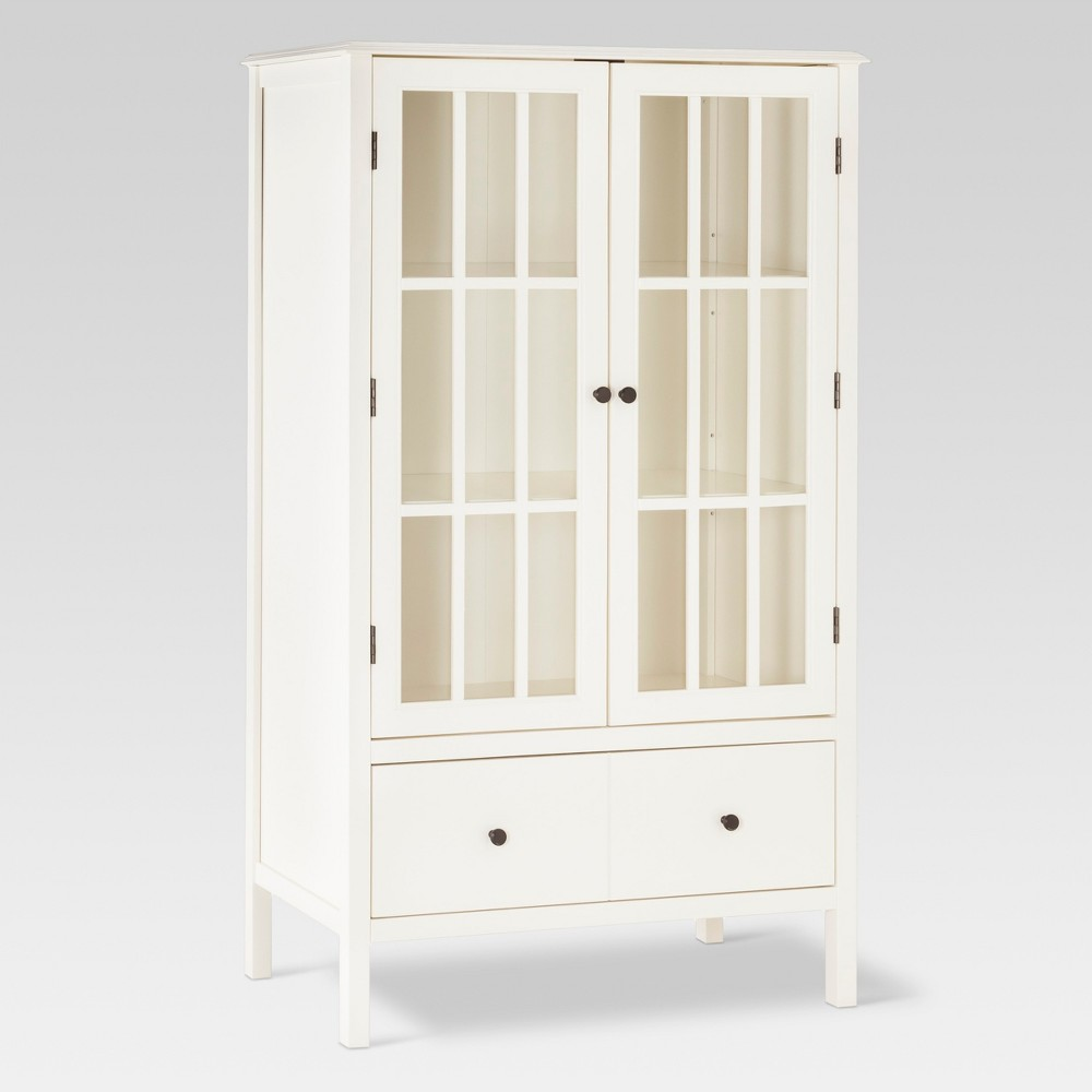 Windham Tall Cabinet with Drawer - Threshold, White