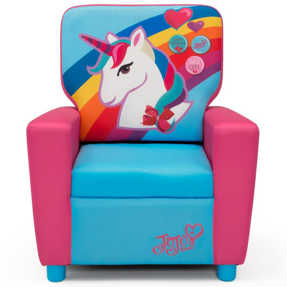 Image of JoJo Siwa Kids High Back Upholstered Chair - Delta Children