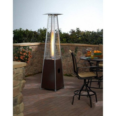 Hammered Metal Tall Glass Tube Portable Patio Heater - Golden Bronze - AZ Patio Heaters - image 1 of 3