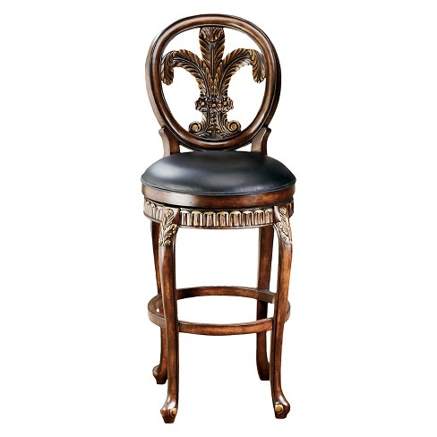 "31"" Fleur de Lis Barstool Wood/Cherry - Hillsdale Furniture - image 1 of 1"