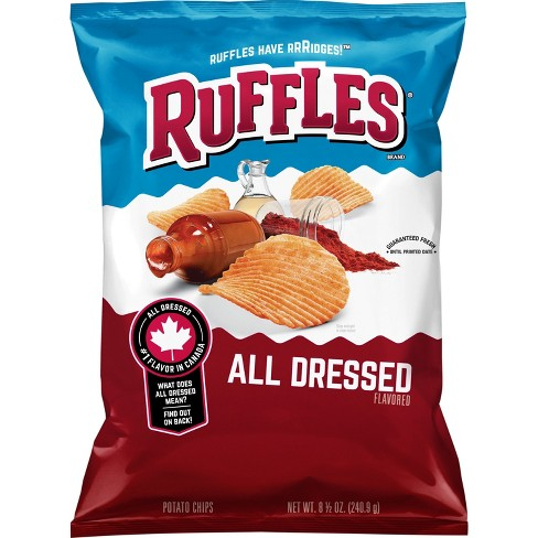 ruffles all dressed potato chips 8 5oz target